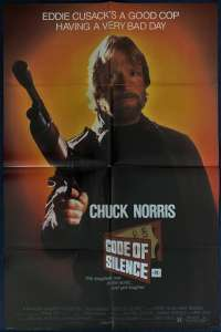 Code Of Silence 1985 One Sheet movie poster Chuck Norris Rare Style B