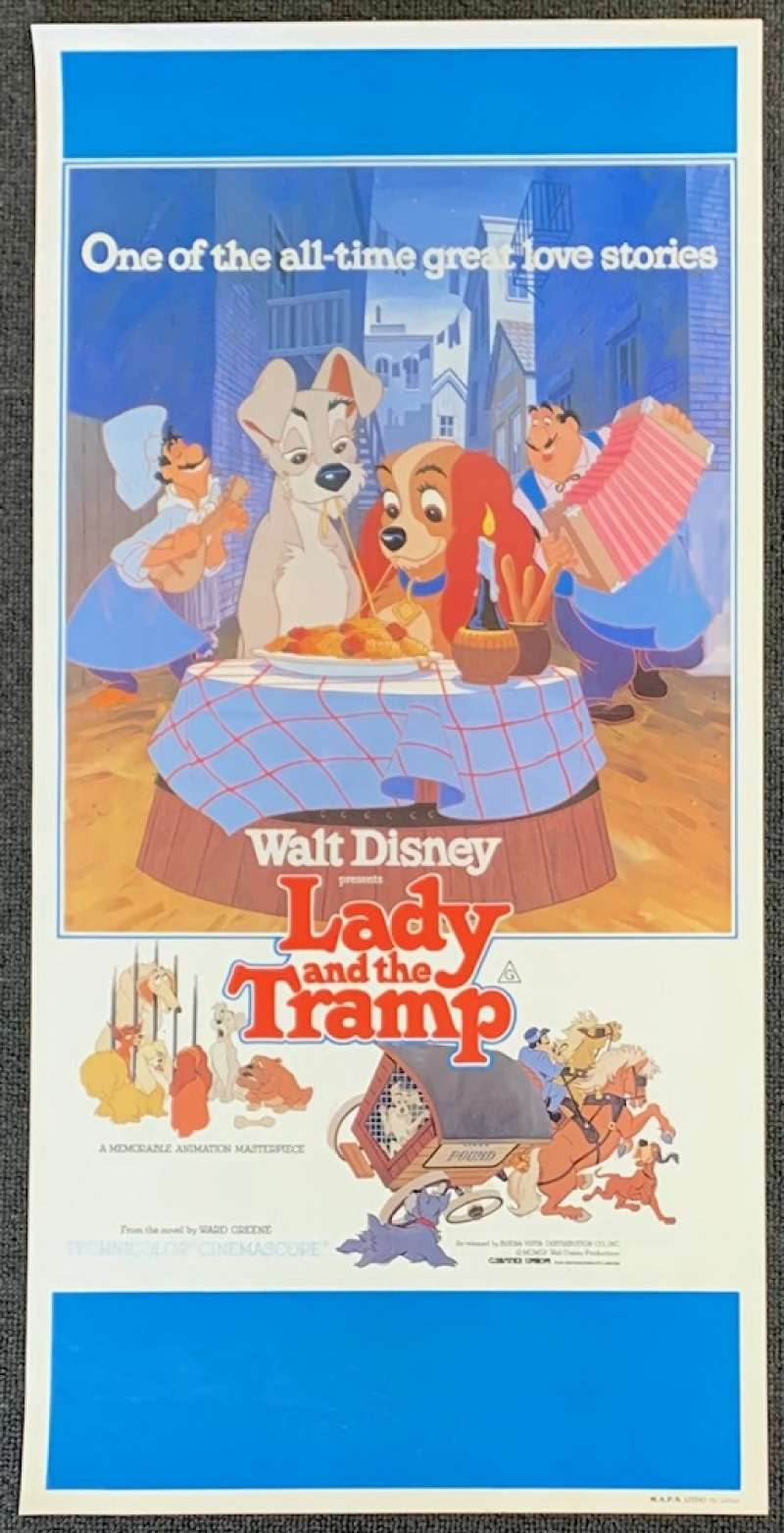 All About Movies Lady And The Tramp Movie Poster Original Daybill Rolled 1980 Re Issue Disney