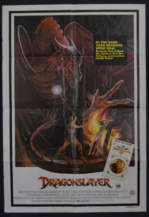Dragonslayer 1981 One Sheet movie poster Dragon BEST Artwork