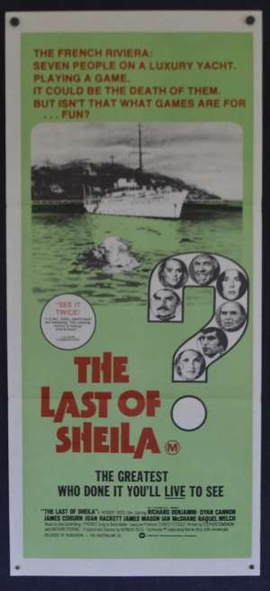 The Last Of Sheila Poster Original Daybill 1973 Dyan Cannon James Coburn