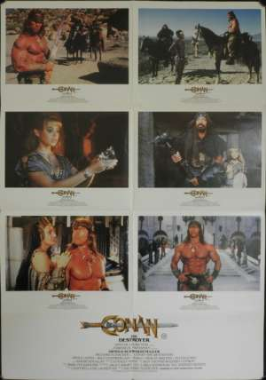 Conan The Destroyer Poster Original Photosheet 1984 Arnold Schwarzenegger