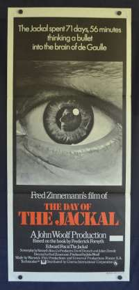 The Day Of The Jackal Poster Original Daybill 1973 Edward Fox Fred Zinnemann