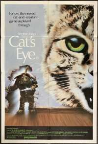 Cat's Eye 1985 One Sheet Movie Poster Drew Barrymore Stephen King
