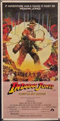 Indiana Jones And The Temple Of Doom Harrison Ford jungle art Daybill poster