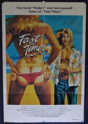 Fast Times Poster One Sheet 1982 Sean Penn Aka Fast times At Ridgemont High