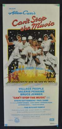 Can't Stop The Music Village People Steve Guttenberg Daybill movie poster