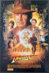 Indiana Jones And The Kingdom Of Crystal Skull Harrison Ford One Sheet movie poster