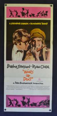 What's Up Doc Poster Original Daybill 1972 Barbra Streisand Ryan O'Neal Comedy