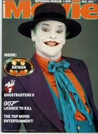 Movie Magazine 1989 Number 4 Batman Jack Nicholson