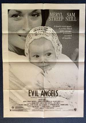 Evil Angels Poster Original One Sheet 1988 aka Cry In The Dark Meryl Streep Sam Neil