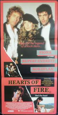 Hearts Of Fire Daybill Movie poster