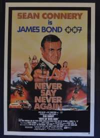Never Say Never Again Poster Original One Sheet 1983 Sean Connery James Bond