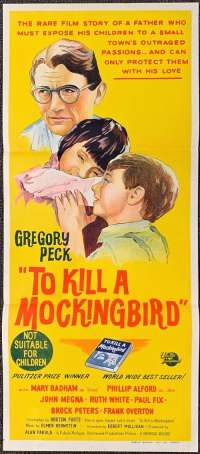 To Kill A Mockingbird Poster Original Daybill 1962 Gregory Peck Vintage