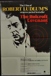 The Holcroft Covenant Poster Original One Sheet 1985 Michael Caine John Frankenheimer