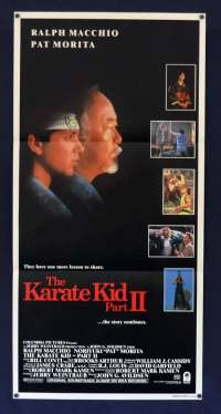 The Karate Kid Part II 1986 Daybill movie poster Ralph Macchio Pat Morita