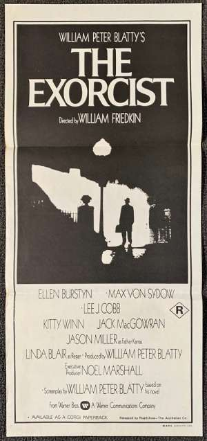 The Exorcist Poster Original Daybill 1973 Linda Blair William Friedkin