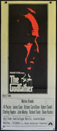 The Godfather Poster Original Daybill 1972 FIRST Release Marlon Brando Al Pacino