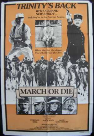 March Or Die Poster Original One Sheet 1977 Gene Hackman Terence Hill