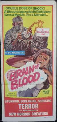 Brain of Blood Daybill movie poster