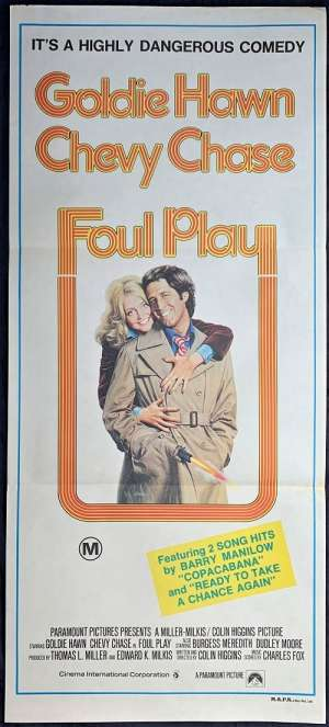 Foul Play Poster Chevy Chase Australian Daybill Movie poster