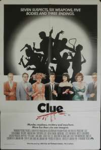 Clue movie poster Tim Curry One sheet