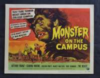 Monster On The Campus Lobby Title Card 1958  Arthur Franz Joanna Moore Sci-Fi Horror