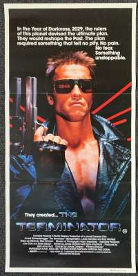 Click For Supersize Image The Terminator Movie Poster Original Daybill Arnold Schwarzenegger