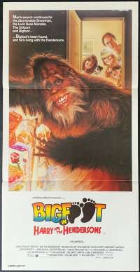 Bigfoot In Harry And The Hendersons Movie Poster Original Daybill 1987 Struzan Art