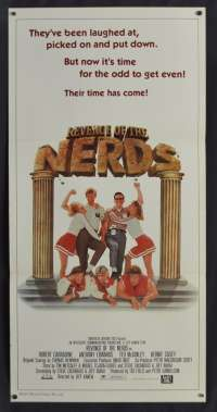 Revenge Of The Nerds Poster Original Daybill 1984 Anthony Edwards Robert Carradine