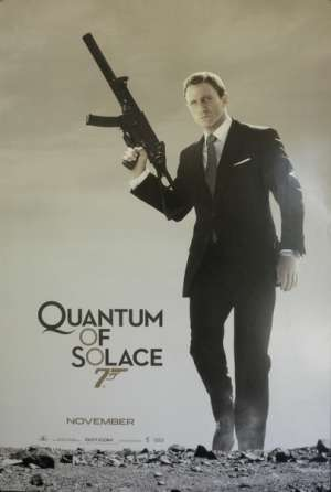Quantum Of Solace 2008 One Sheet movie poster Rolled Daniel Craig James Bond 007