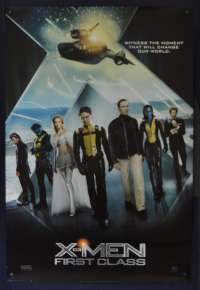 X-Men First Class Poster Original One Sheet USA 2011 James McAvoy Superhero