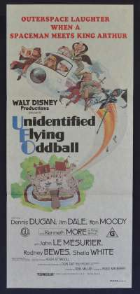Unidentified Flying Oddball Poster Original Daybill Disney Dennis Dugan