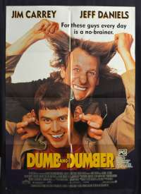 Dumb And Dumber 1994 One sheet movie poster Jim Carrey Jeff Daniels Peter Farrelly