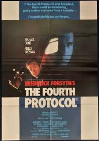 The Fourth Protocol Poster Original One Sheet Michael Caine Pierce Brosnan