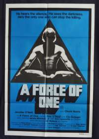 A Force Of One Movie Poster Original One Sheet 1979 Chuck Norris Martial Arts