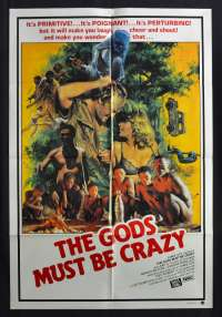 The Gods Must Be Crazy 1980 One Sheet movie poster Character artwork