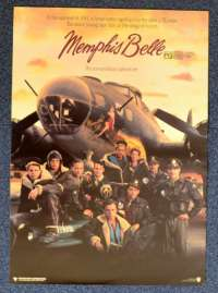 Memphis Belle 1990 Flyer movie poster B-17 Flying Fortress Matthew Modine