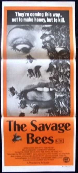 The Savage Bees movie poster Daybill Christina Raines