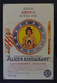 Alice's Restaurant Poster Original One Sheet 1969 Arlo Guthrie Pat Quinn