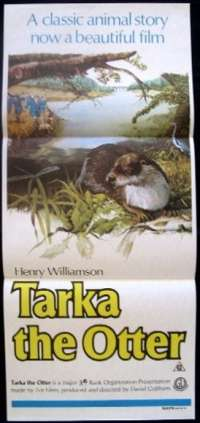 Tarka The Otter 1979 Peter Ustinov Rare Daybill movie poster