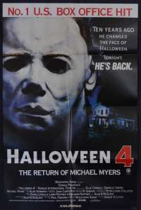 Halloween 4 poster One Sheet The Return of Michael Myers John Carpenter