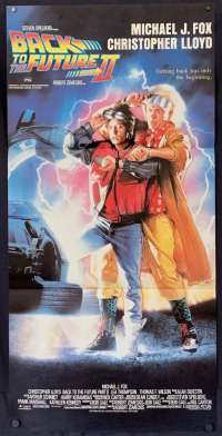 Back To The Future 2 Movie Poster Original Daybill Drew Struzan Art Michael J Fox