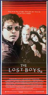 The Lost Boys Poster Original Daybill 1987 Vampires Kiefer Sutherland