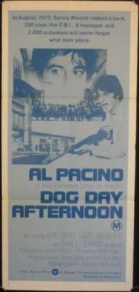 Dog Day Afternoon Poster Al Pacino Australian Daybill Movie poster