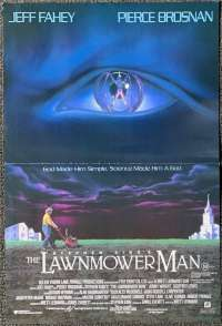 The Lawnmower Man 1992 Daybill movie poster Pierce Brosnan Jeff Fahey