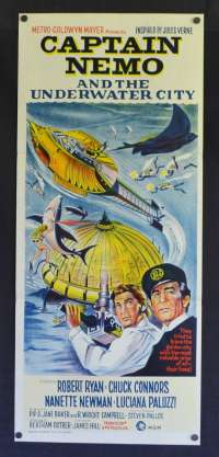 Captain Nemo And The Underwater City Daybill Poster 1969 Robert Ryan
