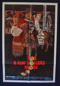 For A Few Dollars More Poster Original One Sheet 1980 RI Clint Eastwood