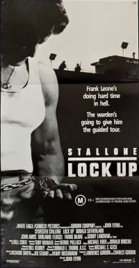 Lock Up Poster Daybill Original 1989 Sylvester Stallone Donald Sutherland Jail