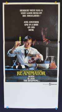 Re-Animator movie poster Daybill Bruce Abbott Mad Scientist