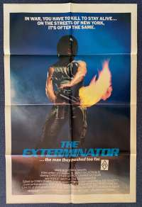 The Exterminator Poster Original USA One Sheet 1980 Robert Ginty Vigilante